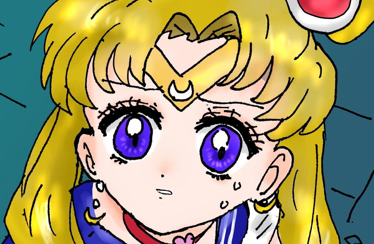 (遅い)セーラームーンチャレンジ Illust of ねむこ@発展途上 art sailormoonredraw girl PrettyGuardianSailorMoon yellow character illustration UsagiTsukino kawaii おんなのこ