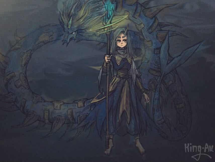 虬 Illust of KingAu 女孩,動物 中国龙