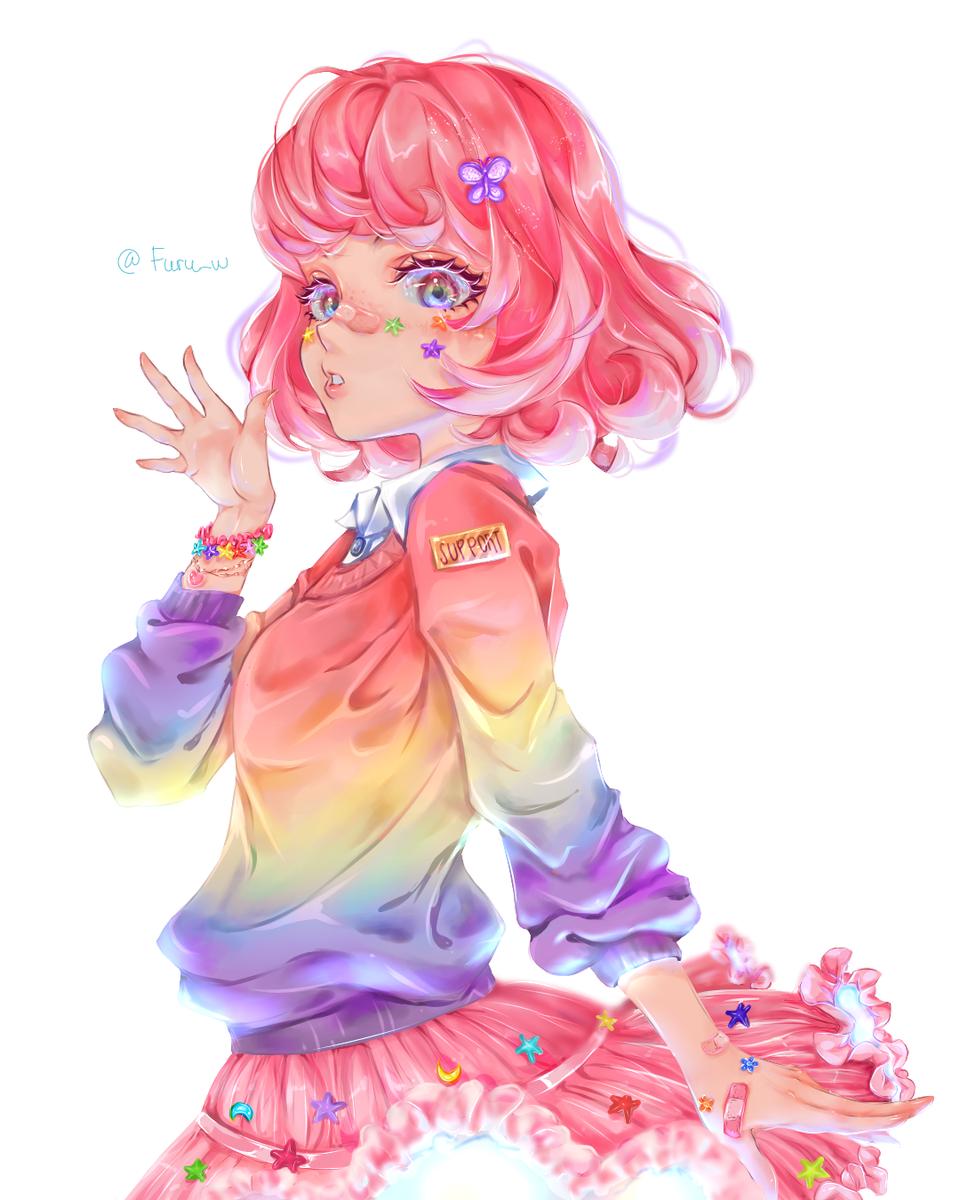 Joined DTIYS  Illust of Furuwa art newyear girl flower digital anime fanart eyes kawaii medibangpaint