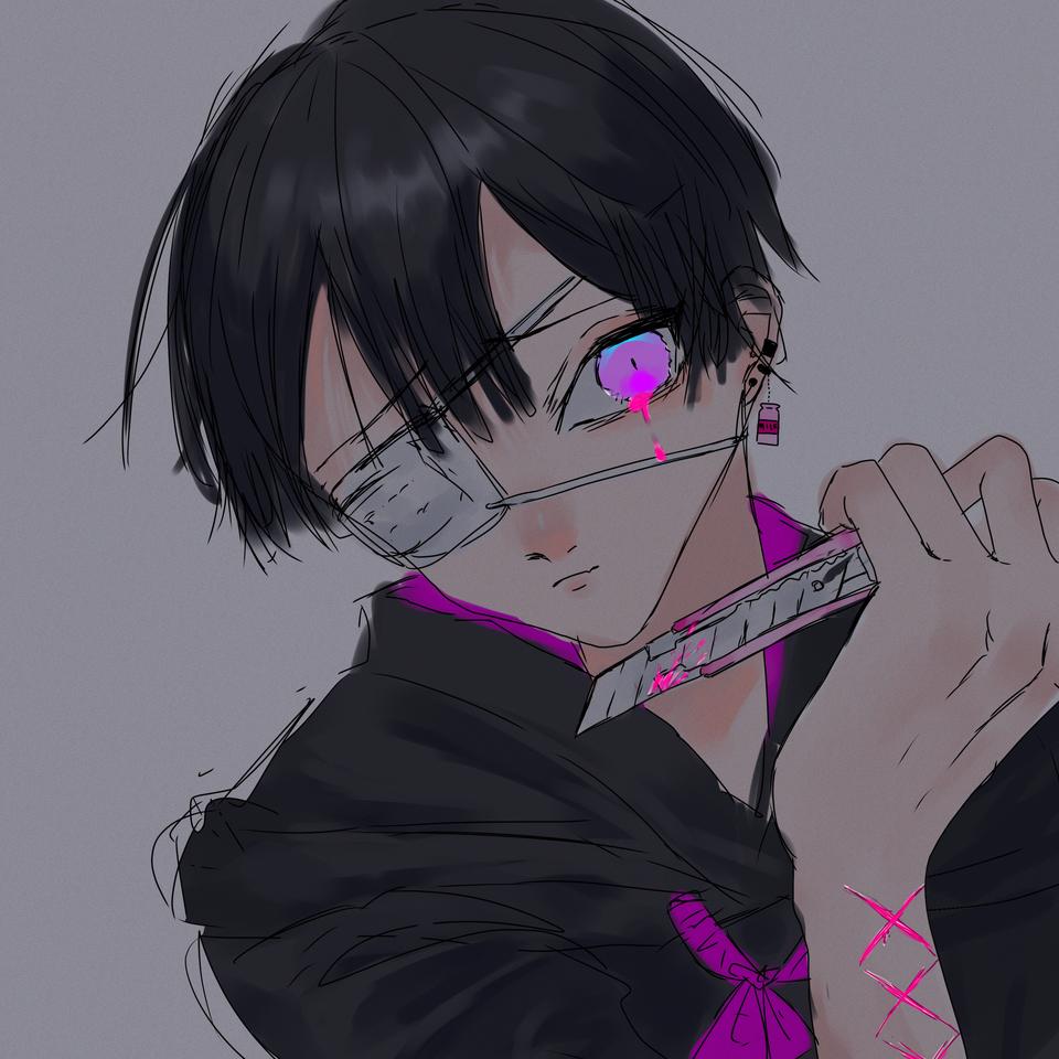 右に曲がります Illust of OHTEAOH 小5#腐女子同盟 boy pink 病み
