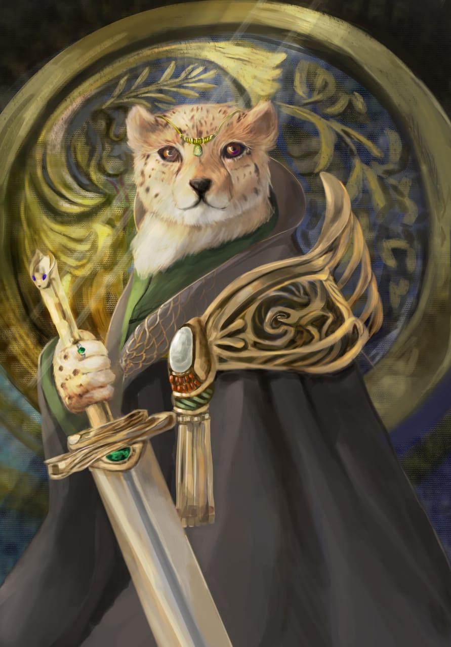 Panthera pardus kotiya Illust of May August2021_Animal 豹 Lord Duke