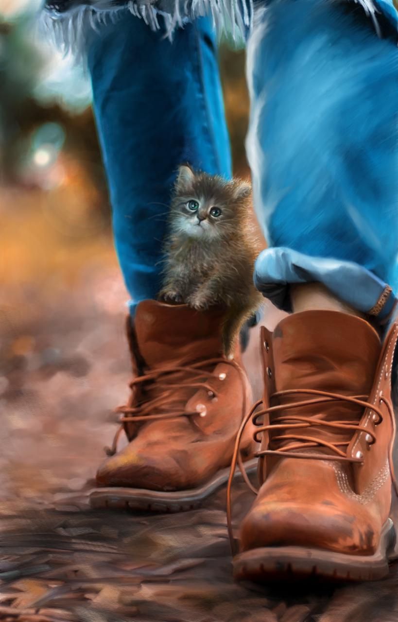 puss in boots 靴喵 | 愛畫畫的沐娜 Illust of muna ARTstreet_Ranking May.2020Contest:Cheering blue painting digital illustration cat kawaii cute
