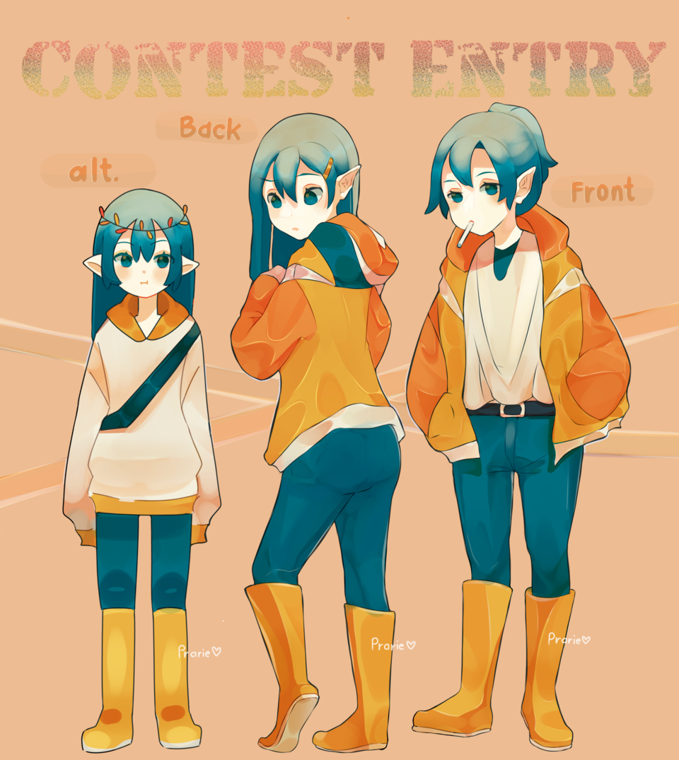 Outfit Contest Entry Illust of Prarie orange girl Prarie ContestEntry oc hoodie Bella contest