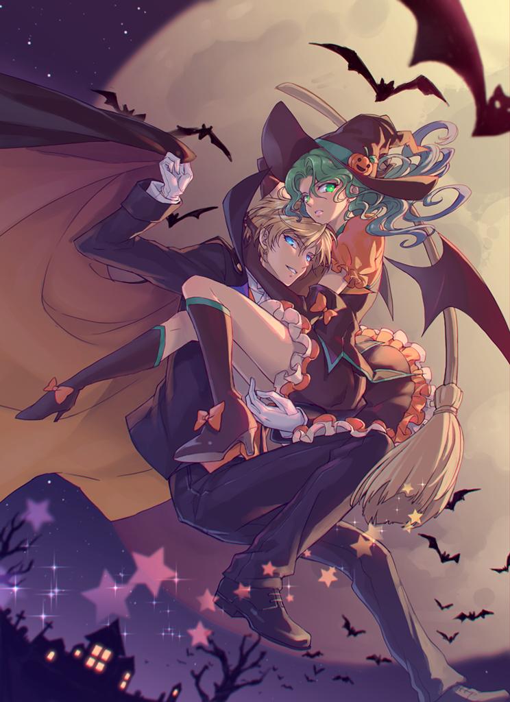 Halloween Illust of 仙梅 vampire witch はるみち HarukaTenoh Halloween 百合 海王滿 PrettyGuardianSailorMoon