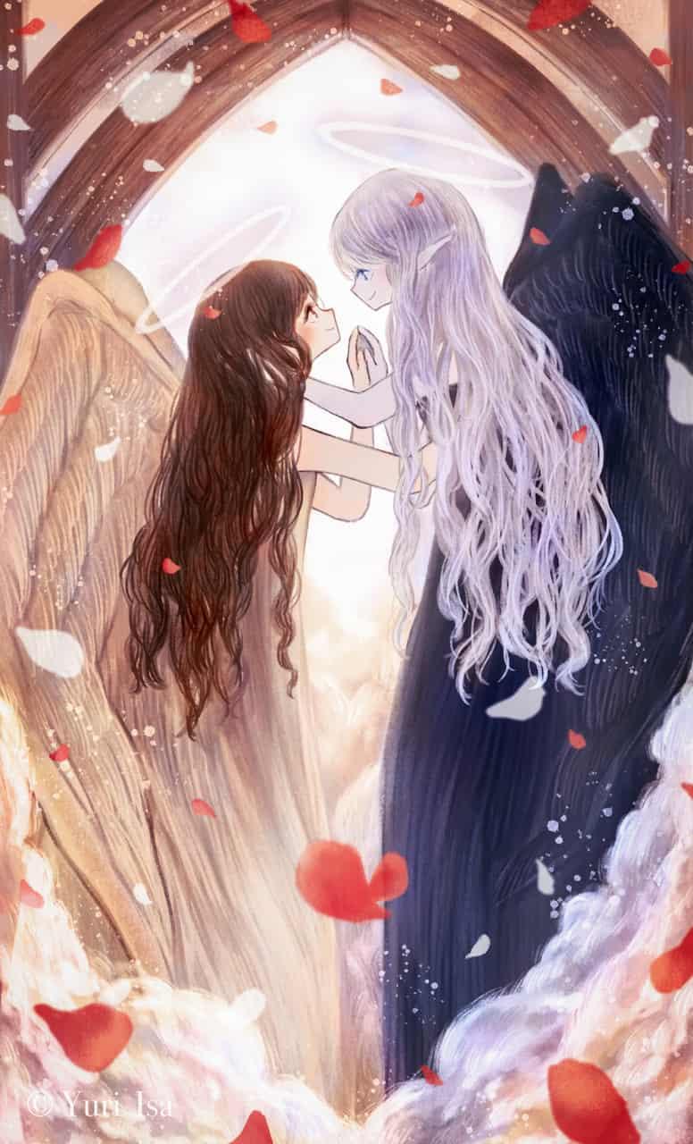 あなたが幸せになりますように Illust of 伊砂祐李 (Yuri Isa) original angel white_hair girl