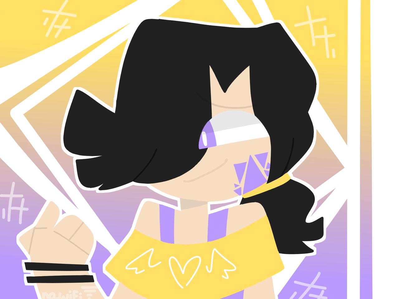 aSaM LaKsA Illust of RiiRen medibangpaint yellow illustration owo purple Asam lineless