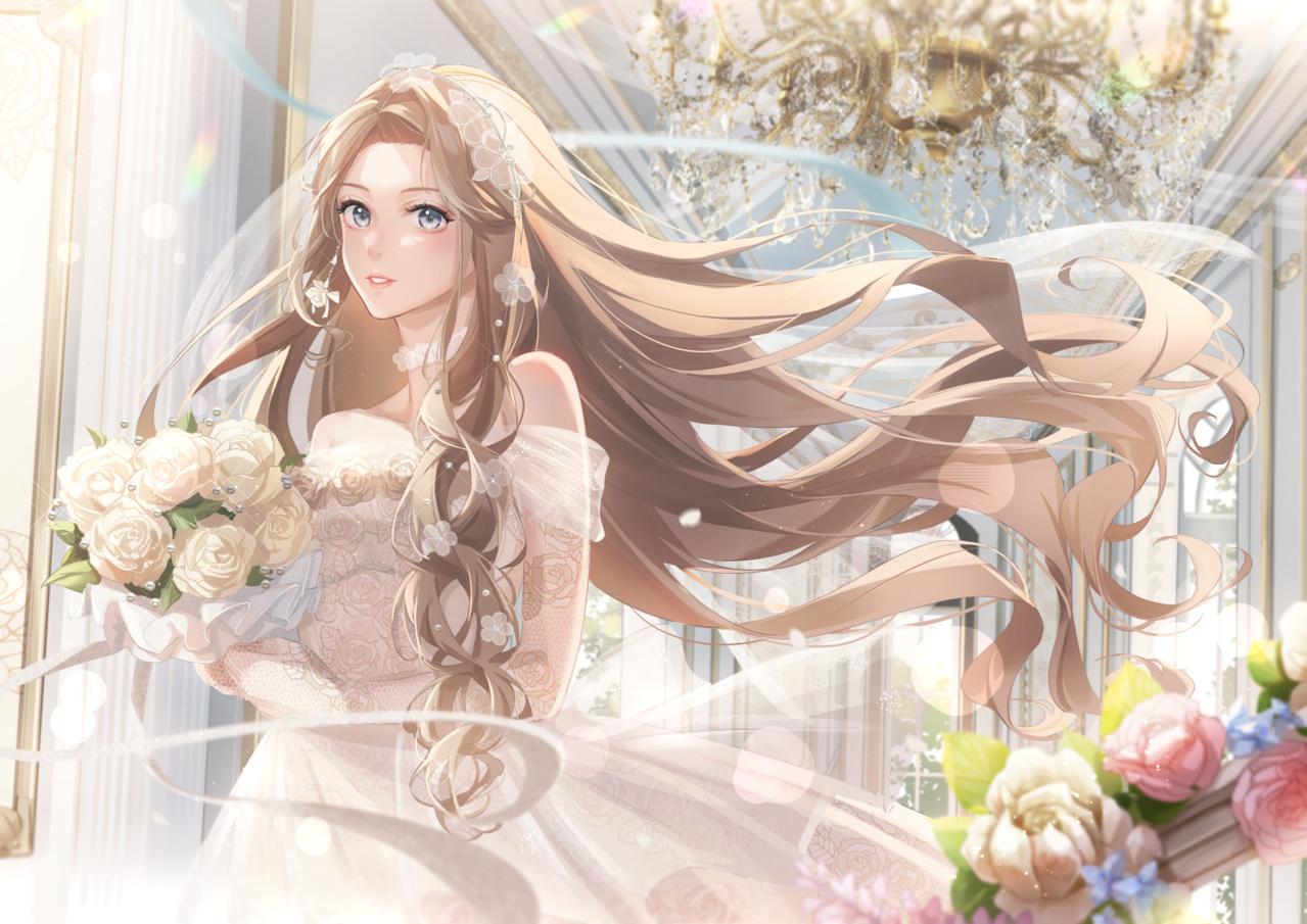 愛の潮汐 Illust of 華茵Cain skirt oc girl kawaii cute