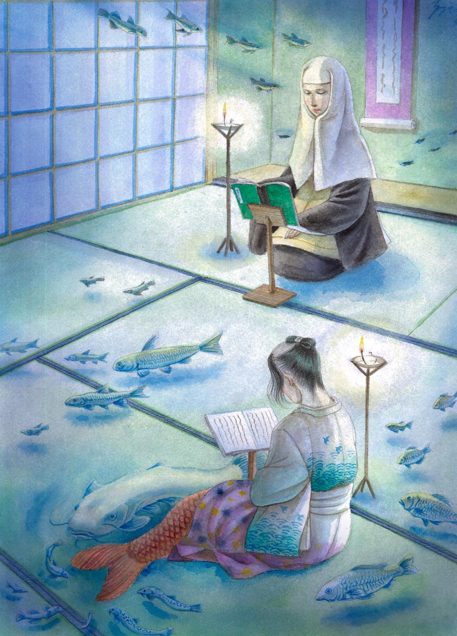 小姓が淵 Illust of Sleeping Dirty February2021_Fantasy 尼 mermaid fish