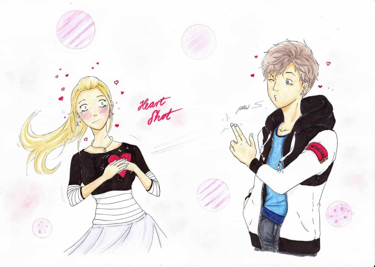 Heart Shot Illust of cy shoujo_illustration