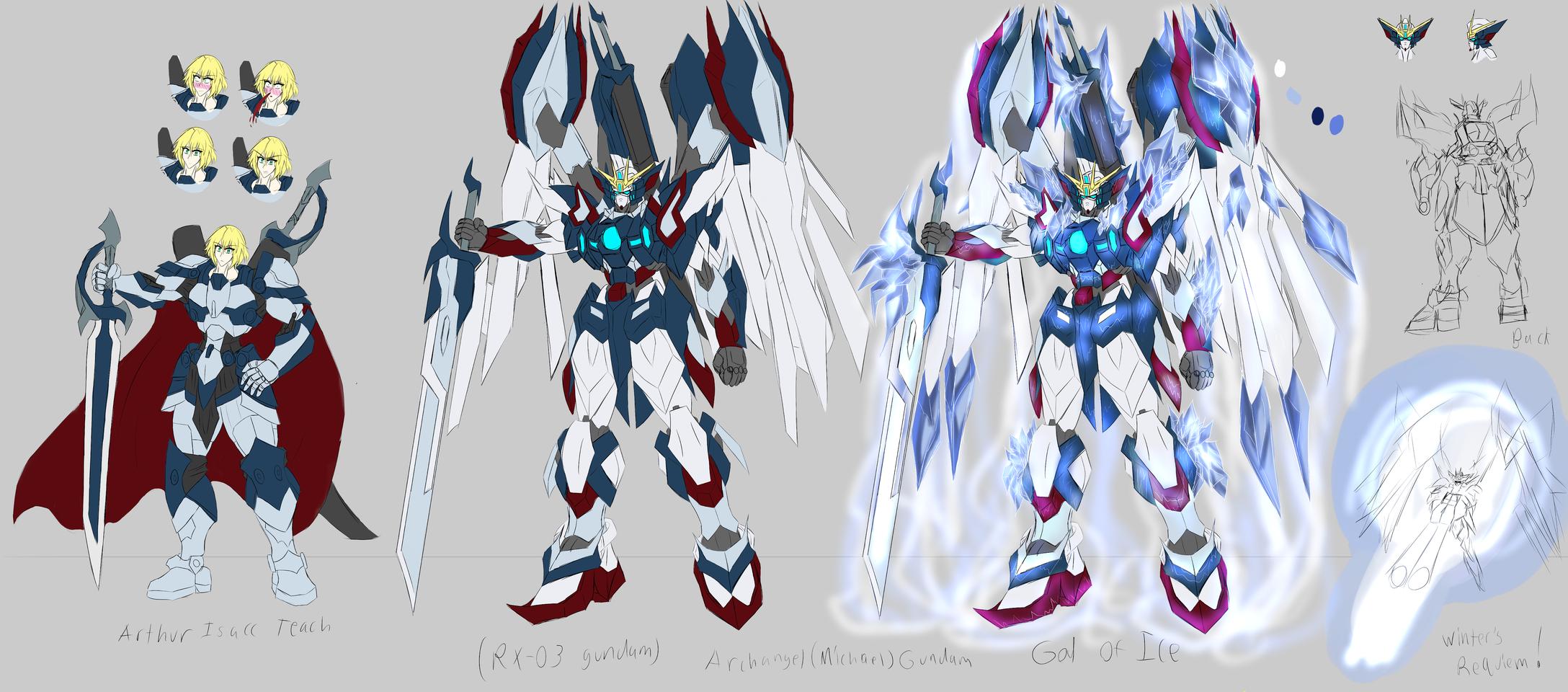 Arthur Issac Teach and the Archangel Gundam