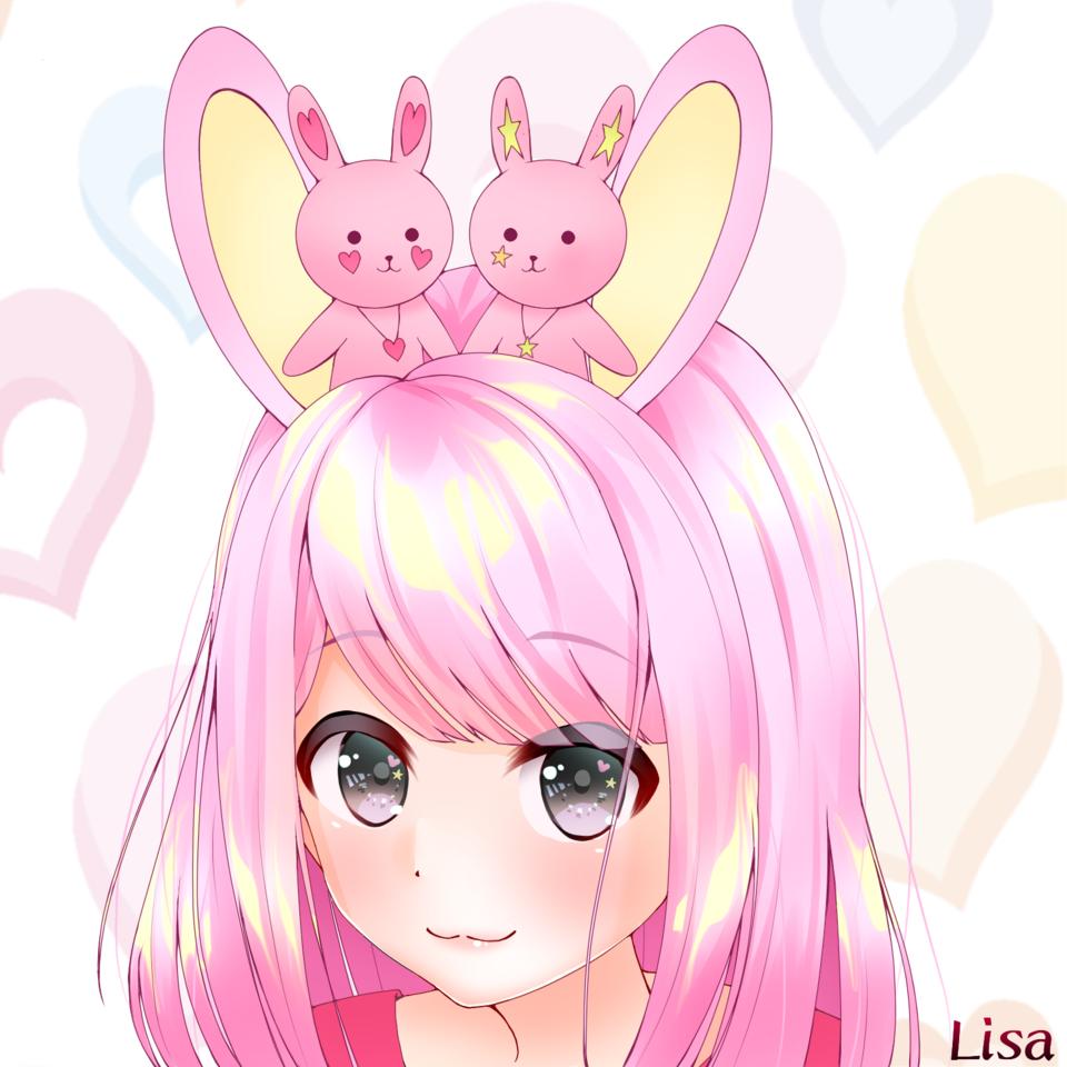 チェリーとスターとうさちゃん Illust of Lisa pink girl kawaii rabbit けもみみ