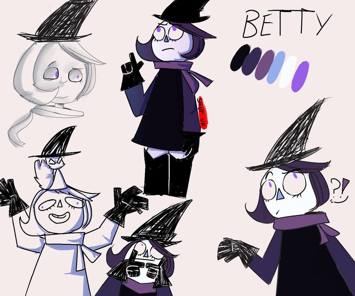 la Betty 😎. ta fea pero está hecho con amor 😔 Illust of Shǎbitzi Camila 🤠 medibangpaint oc character Betty Shut_up