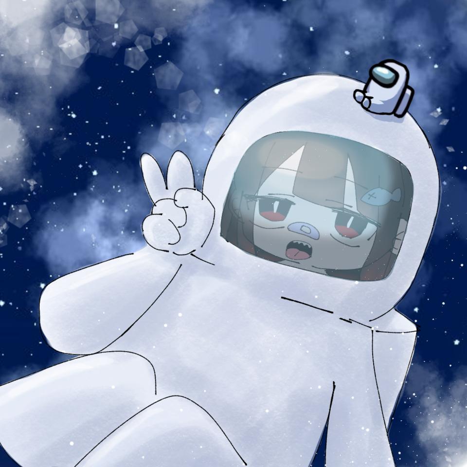宇宙人狼 Illust of ぷいい໒꒱@逝きてる 宇宙人狼 ぷいいさん space game AmangUs
