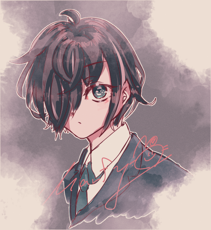 いけめそ Illust of Marfy boy 黒髪 suit handsome kawaii かっこいい きらきら purple