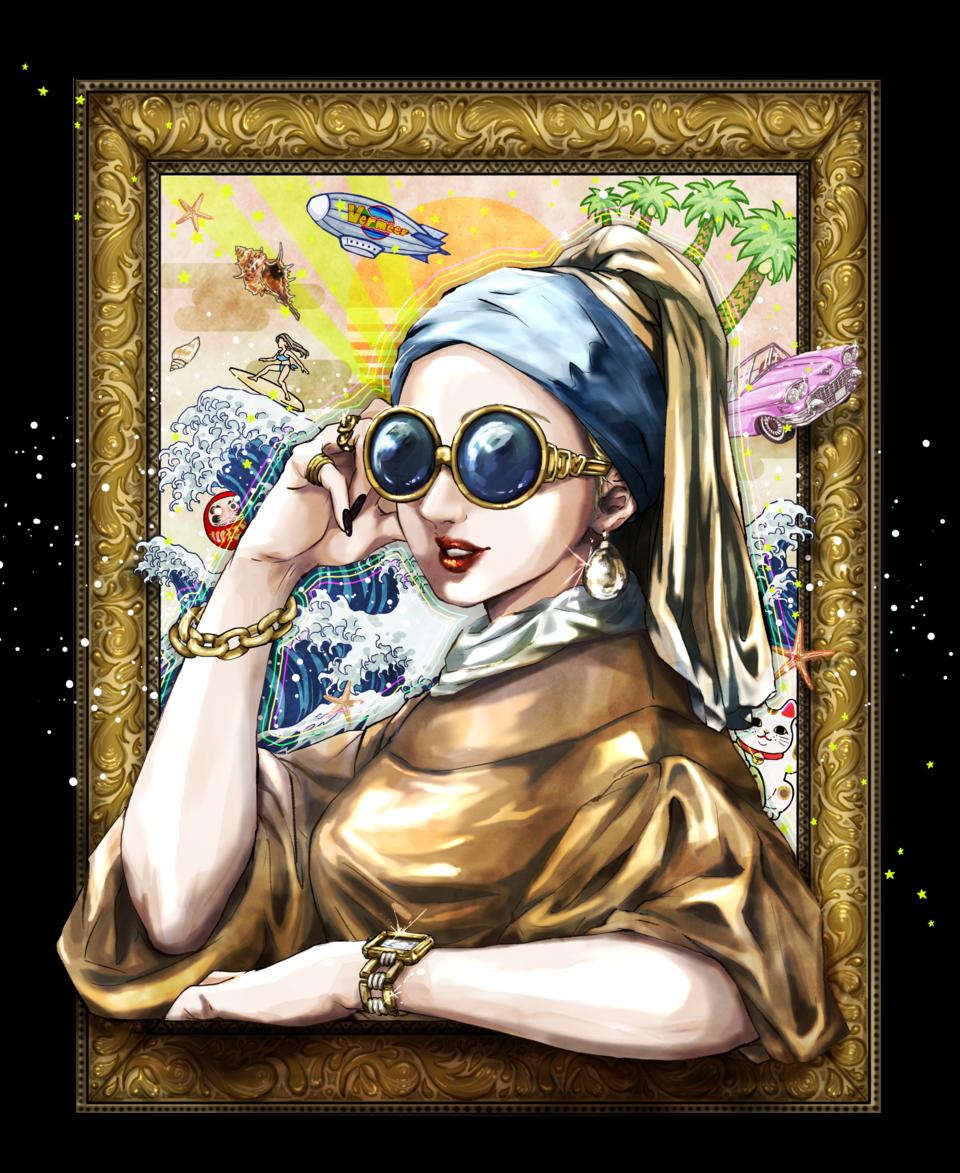夏休みがほしい真珠の耳飾りの少女 Illust of YUKIO MasterpieceFanart fanart illustration