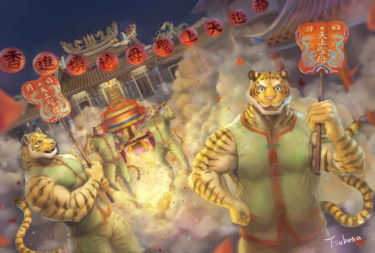 媽祖繞境 Illust of Tsabasa September2020_Contest:Furry furry 媽祖 獣人