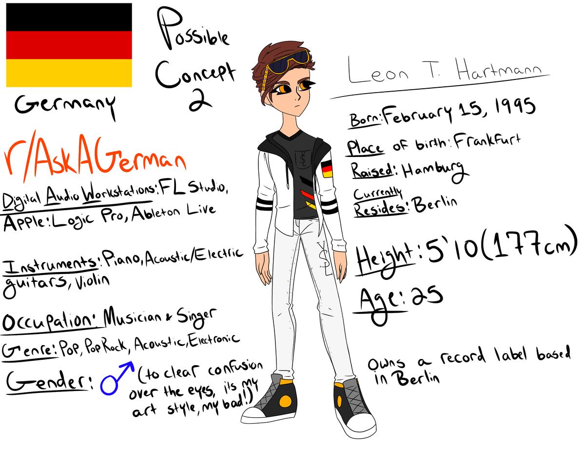 German Character Concept 2 Illust of 𓂀𓁢¡PhøenixX-G (PG)!༒◢◤ Concept Germany