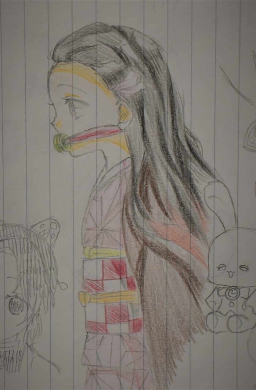 雑多落書きLOG Illust of ゆすらうめ エマ アナログ 莉犬くん KamadoNezuko KimetsunoYaiba doodle StrawberryPrince KochouShinobu ThePromisedNeverland