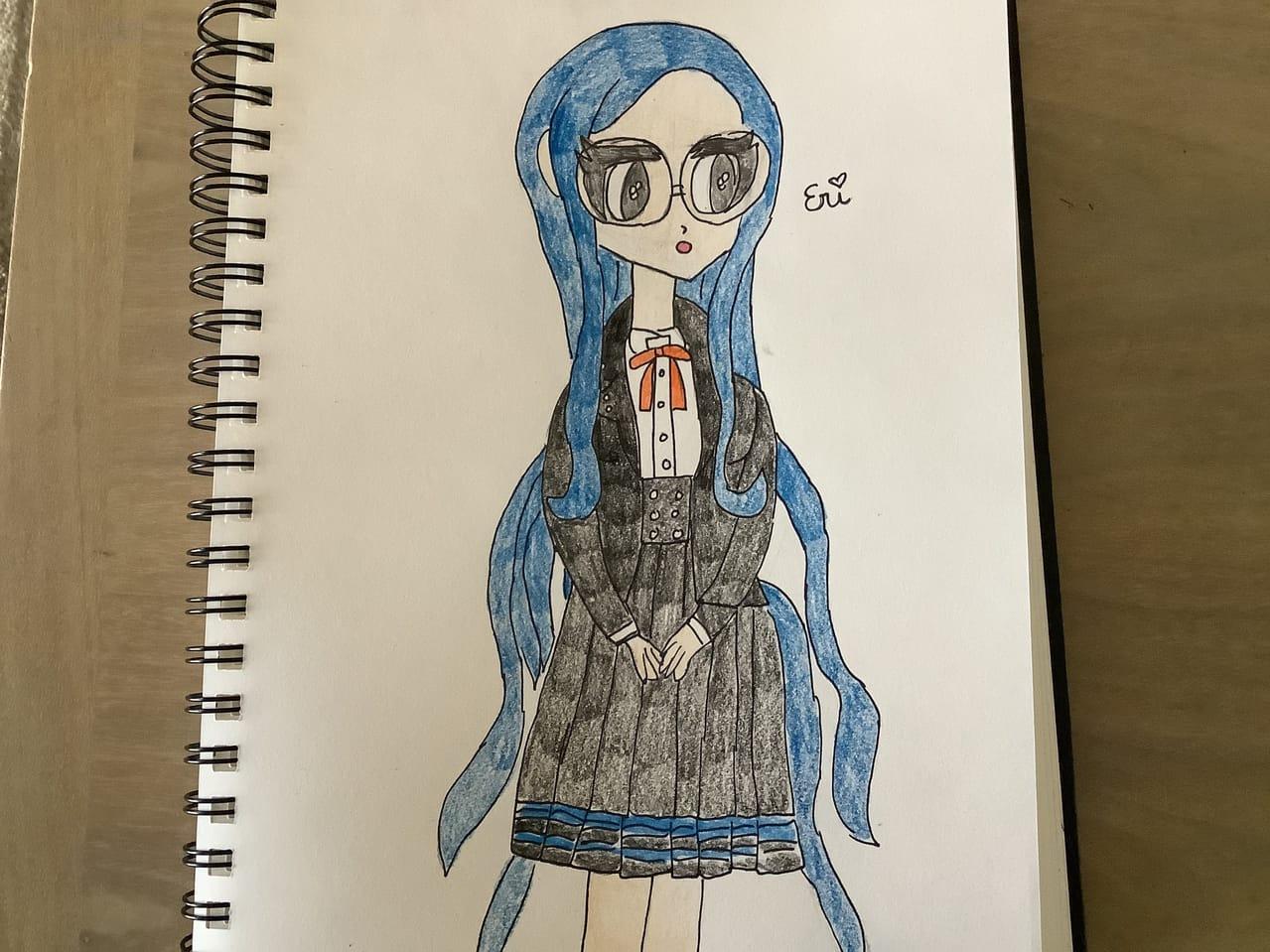 tsumugi  Illust of Ɛɾì ( ŋąɠıɬơ Mσԃҽ)©️ Danganronpa fanart tsumugishirogane despair animegirl mastermind