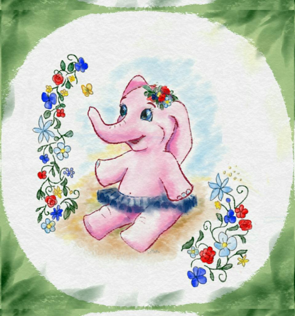 elephant Illust of Lema-lisa medibangpaint elegant sweetelephant sweet