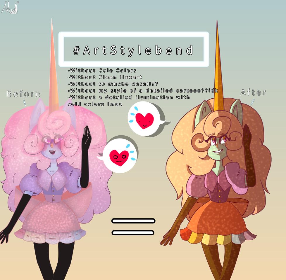 #ArtStylebend with Niji 😼!! Illust of MirelleGallery✨ medibangpaint art ArtStylebend girl ArtStyle Unicorn drawing Mirelle_Gallery Mystyle Ilustration