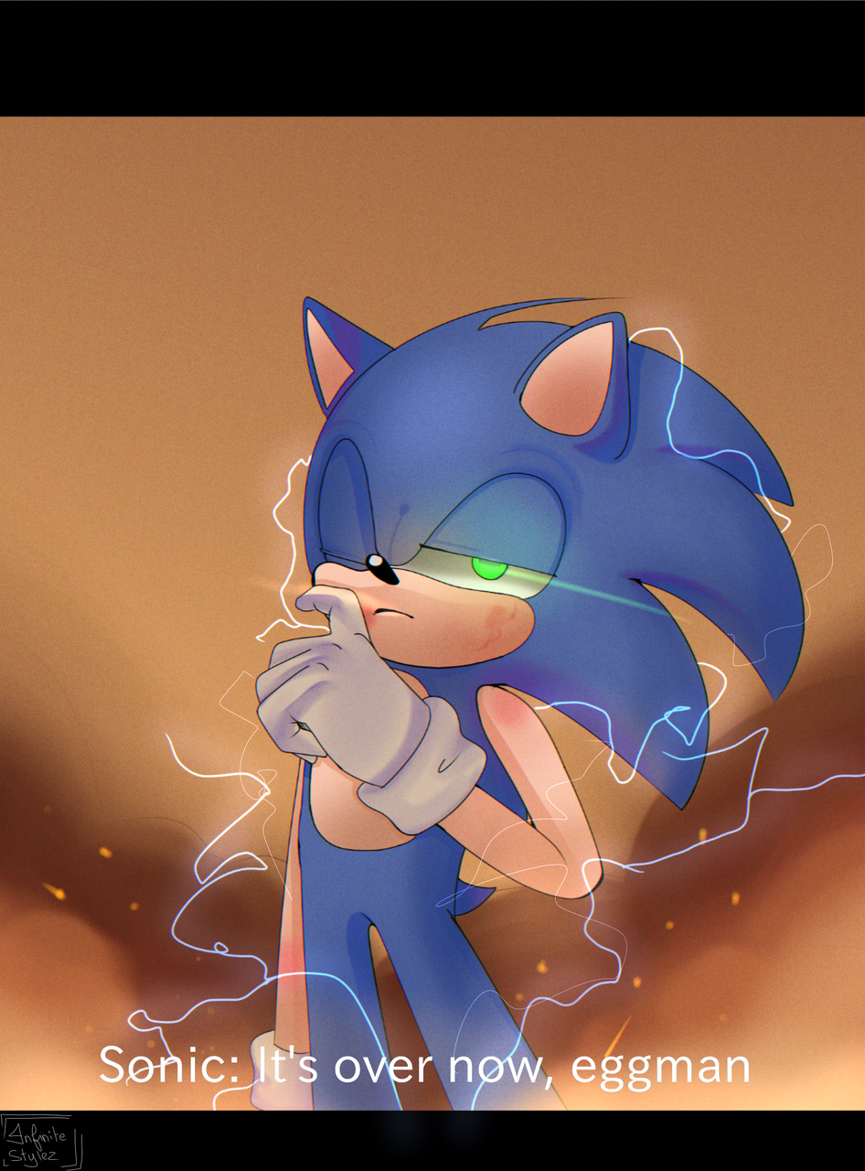 you don't mess with the blue blur- Illust of Infinite stylez medibangpaint background blue infinitestylez :3 cool segaaaAAaaaA sonicfanart Sonic