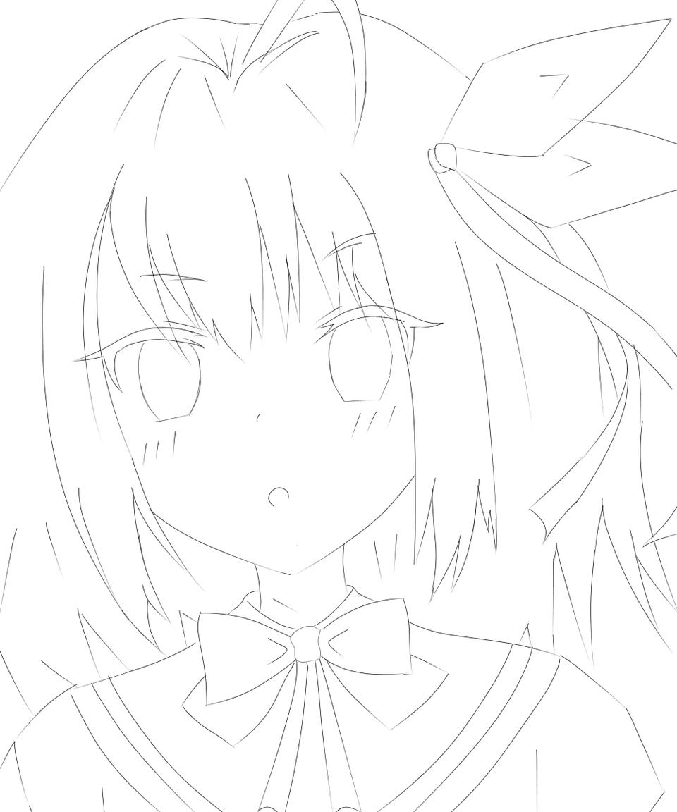 オリキャラ  Illust of いぬぴん medibangpaint oc line_art