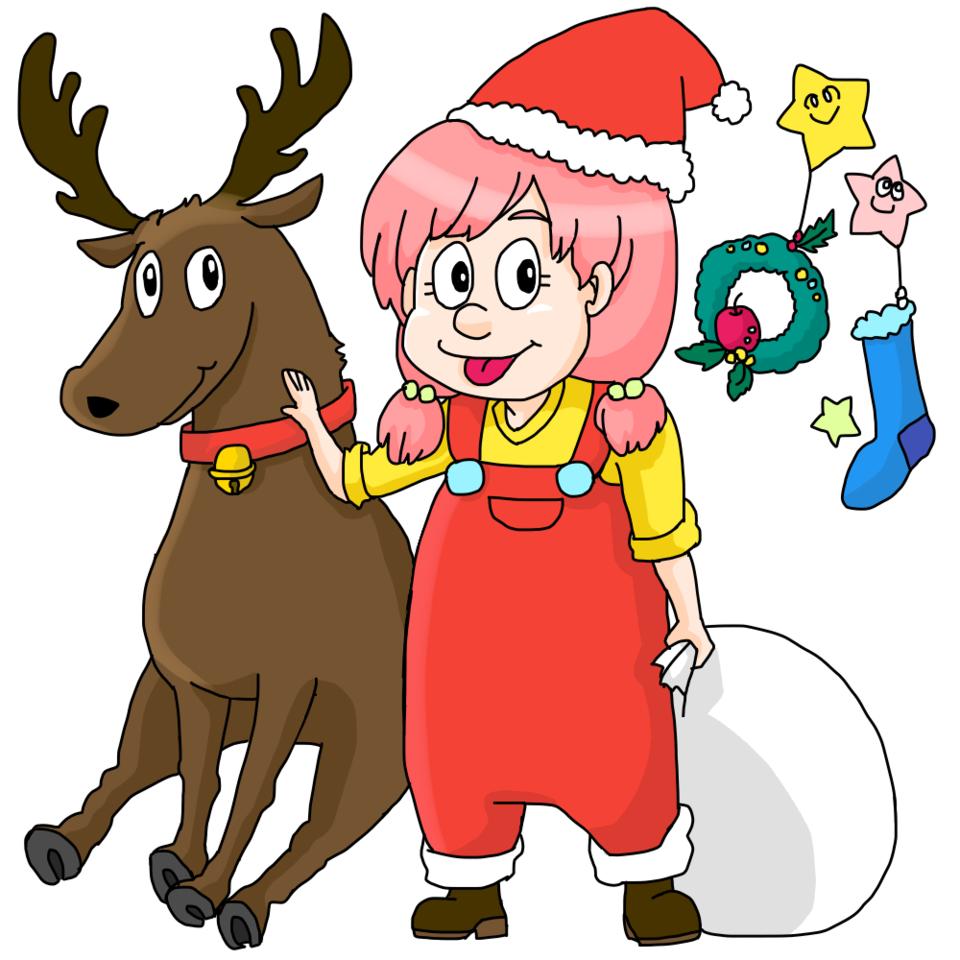 Merryクリスマス オカマの板倉 イラスト アートストリートart