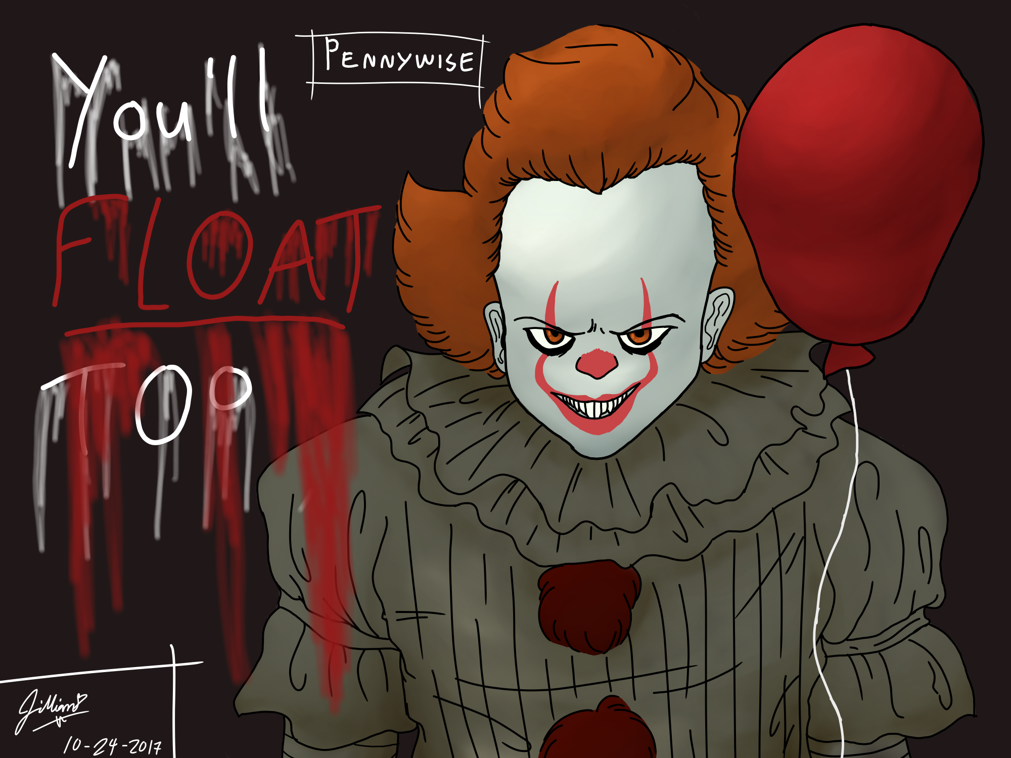 IT Pennywise Inspired Art Youll Float Too Patch