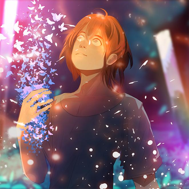 My Little World Illust of Devselia doodles doodle Dream water oc original sparkle shiny rainbow