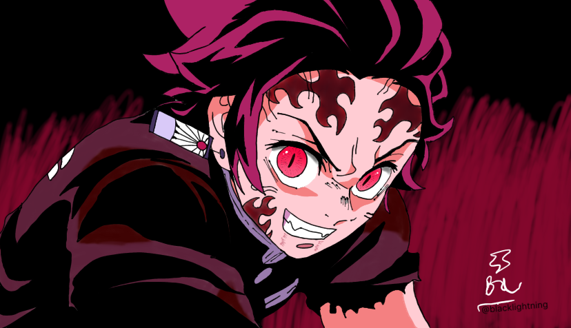 demon tanjiro  Illust of blacklightning ARTstreet_Ranking DemonSlayerFanartContest jumppaint KamadoTanjirou KimetsunoYaiba