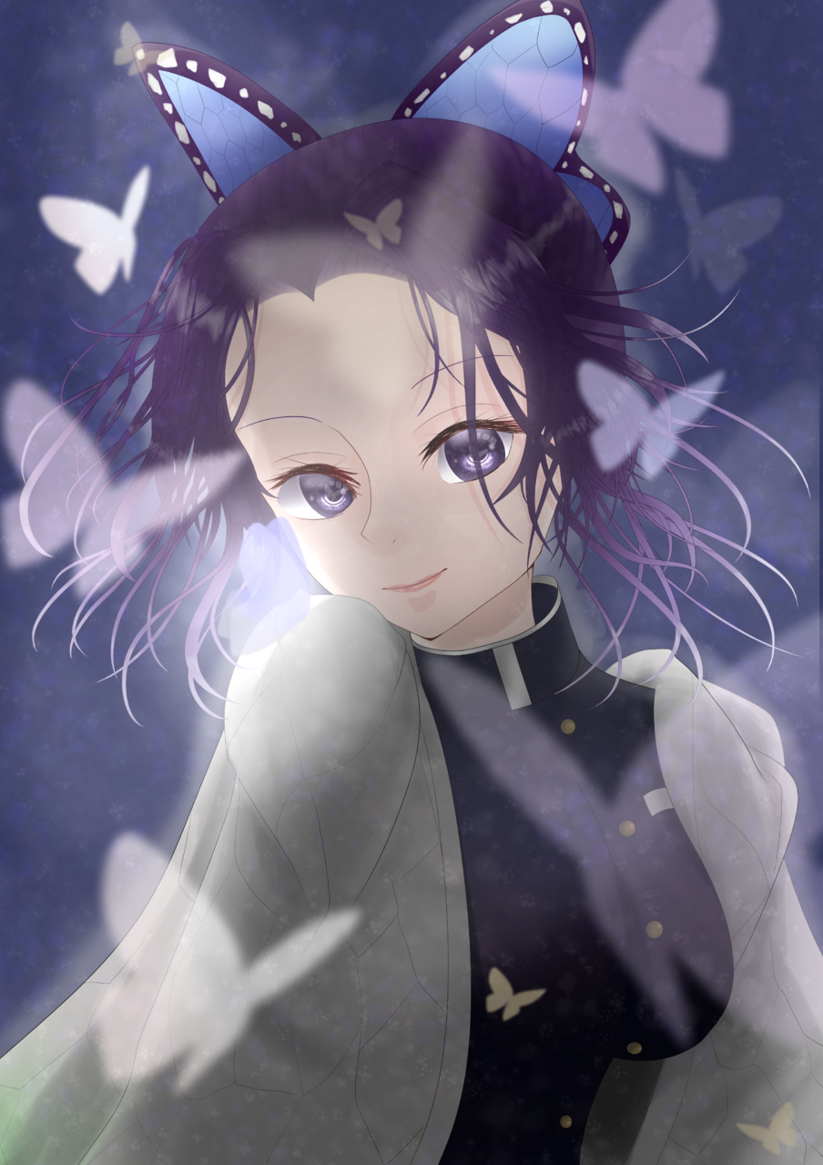 胡蝶の戯 Illust of 1 Post_Multiple_Images_Contest 胡蝶 girl 蟲柱 蝶々 鬼殺隊