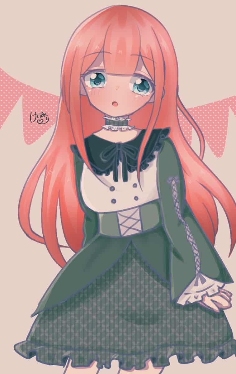 ピンク Illust of けいみり medibangpaint girl green oc pink ロングヘア