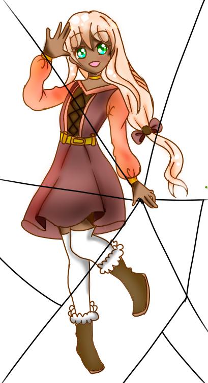 New oc(Chloe) Illust of {Boba Leaf}🌿 oc cute animegirl medibangpaint