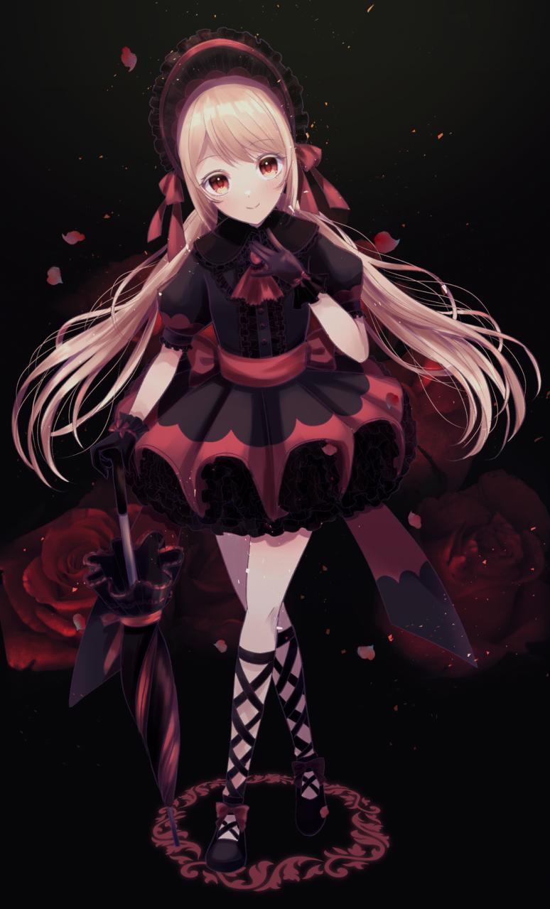 レッドローズ Illust of じゅにねう original twin_ponytails dress rose girl red