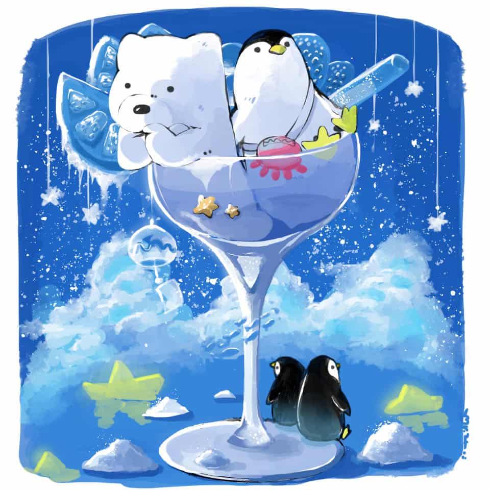 極地之冰 Illust of Aries ARTstreet_Ranking tracedrawing ice シロクマ 南極 Penguin 寒い original polarbear