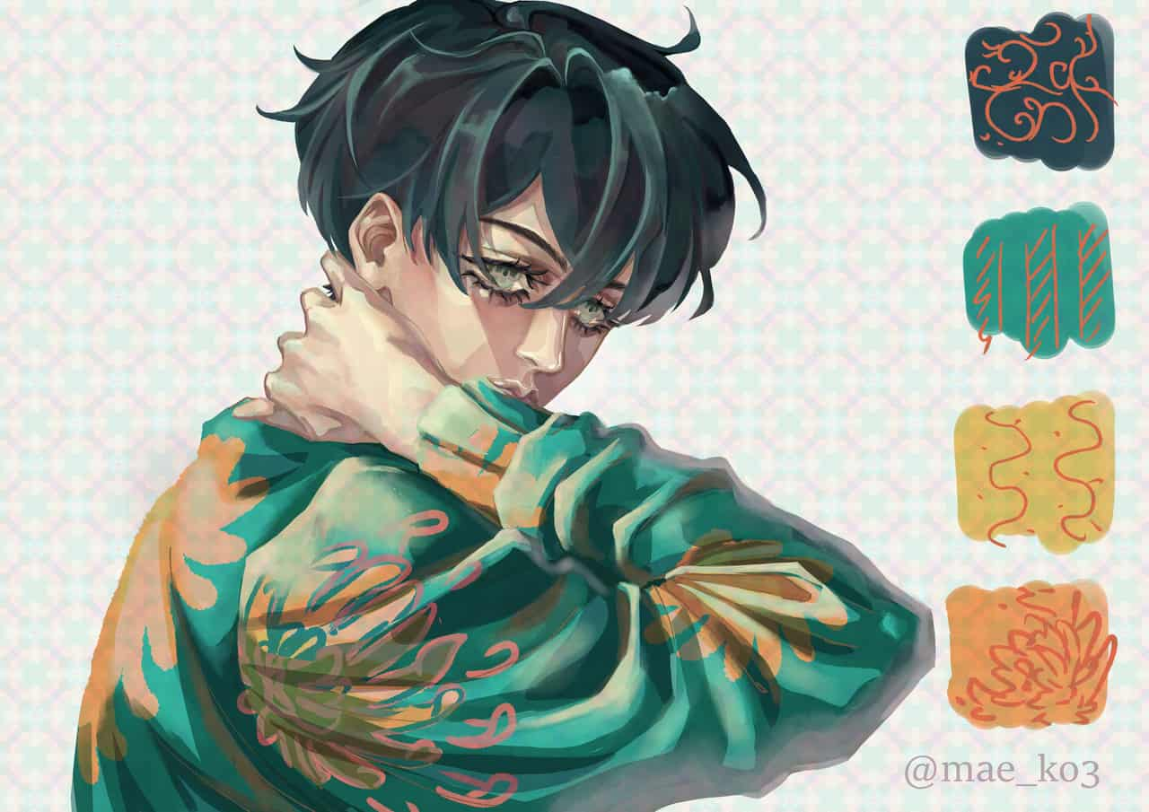 Yuki (夕希) Illust of mae_ko3 April.2020Contest:Color digital mangaart anime pattern pastel boy original animeart mangaka oc