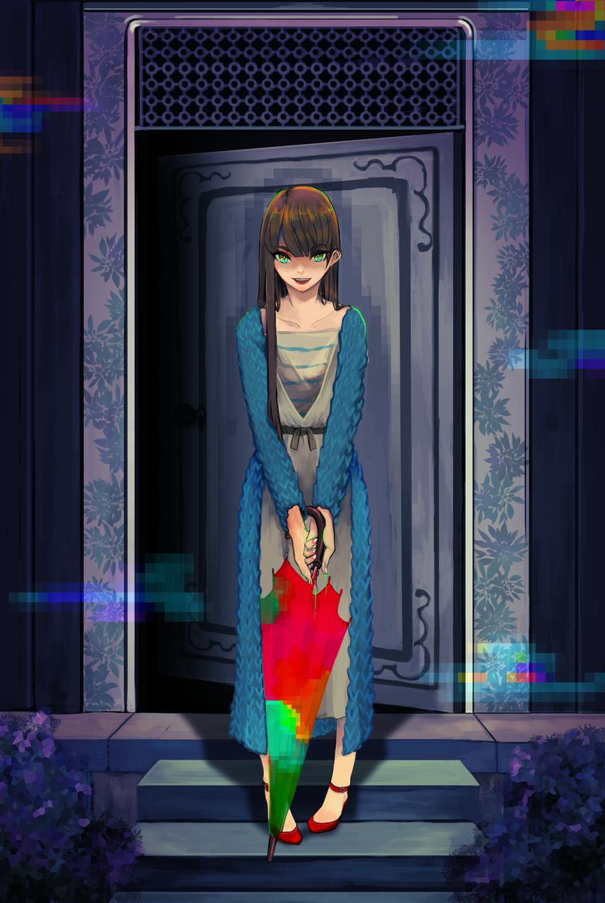 Error Illust of Chrnosu August2020_Contest:Horror girl