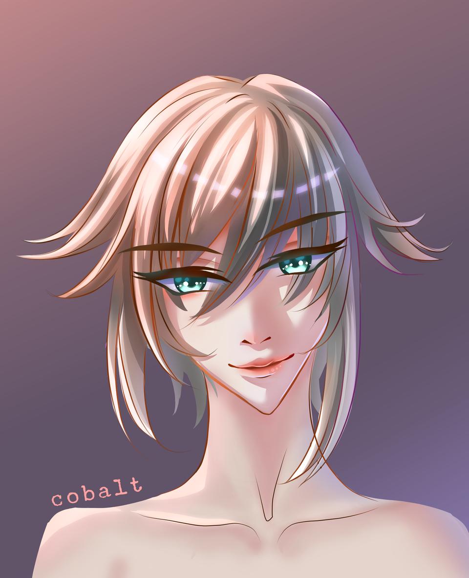 (´▽`)ノ♪ Illust of Q.M. medibangpaint animeboy