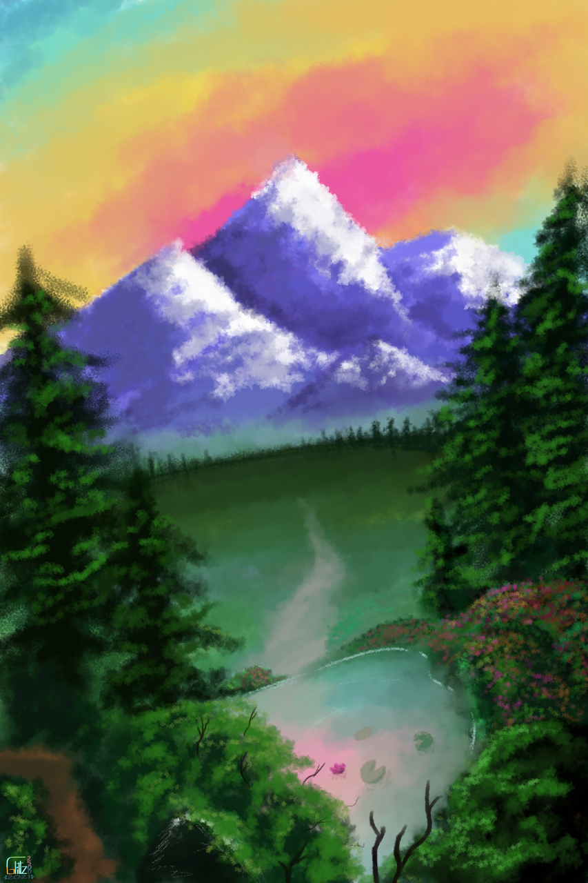 Thing I did to get out of artblock Illust of SilverCloud25 MyArt digital artblock scenery landscapes