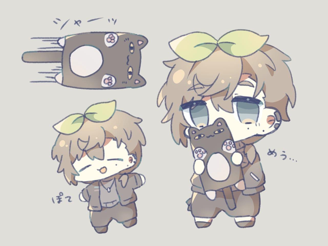 か苗 Illust of 葛 virtual_YouTuber デフォルメ にじさんじ chibi 叶