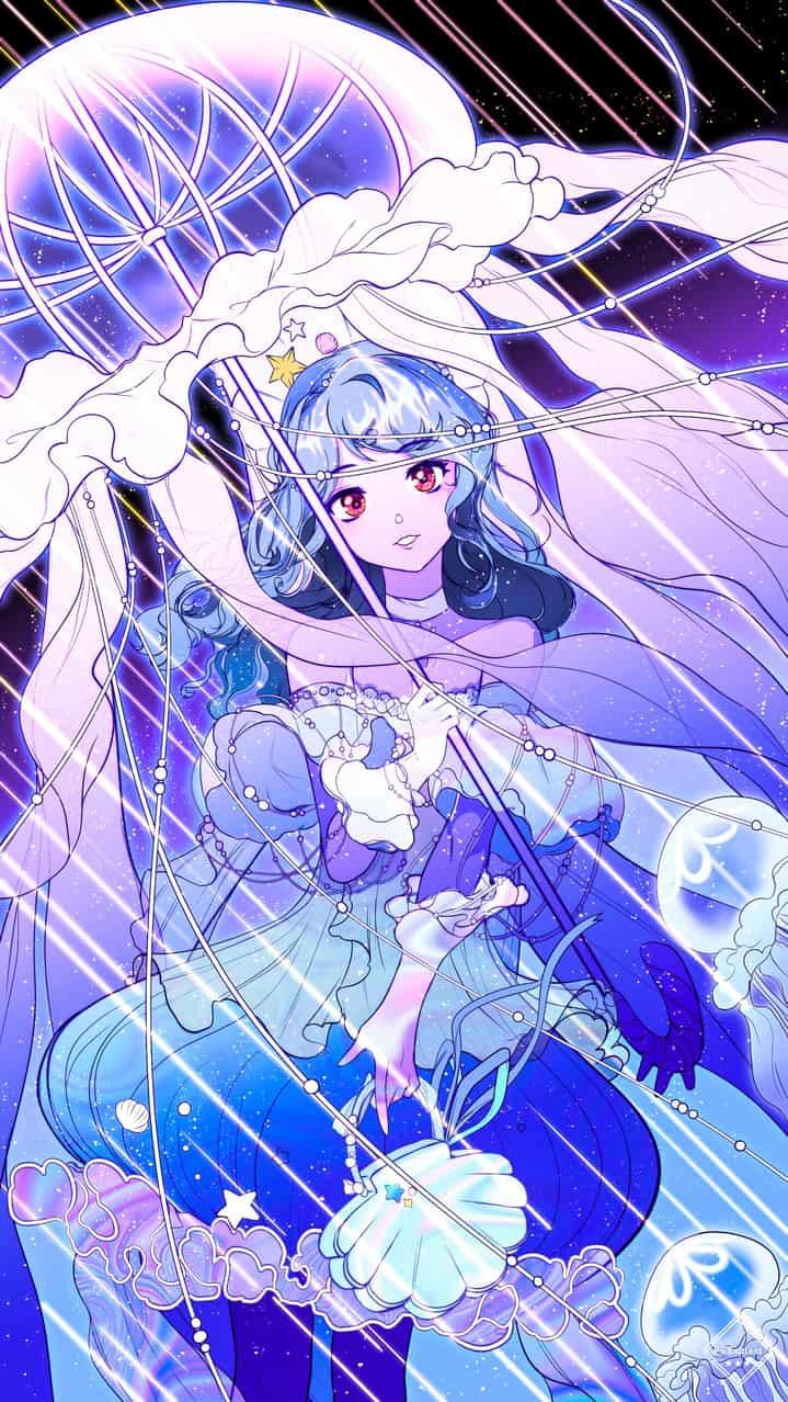 水母流星 Illust of 迟日 girl jellyfish