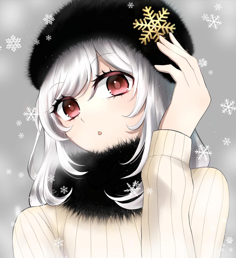 冬のオシャレ Illust of 幾 medibangpaint girl 銀髪 original winter
