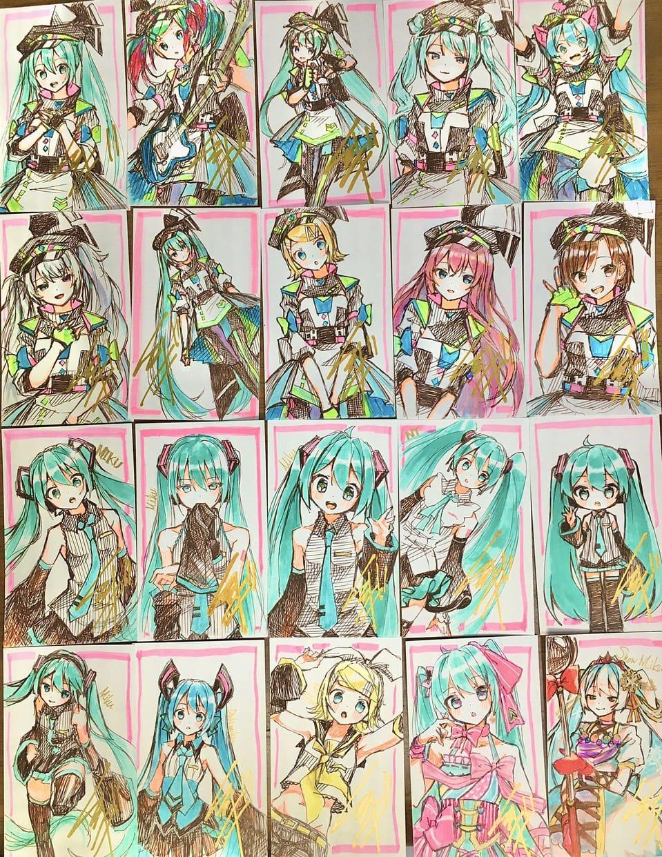 ボカロつめ Illust of レヅキ VOCALOID Kagamine_Rin プロセカ 巡音ルカ hatsunemiku MEIKO