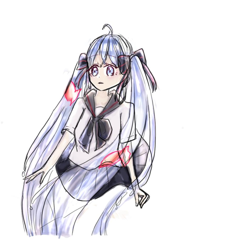 ボトルミクちゃん! Illust of 桜木 れる hatsunemiku girl water medibangpaint uniform blue ボトルミク メディバンペイント
