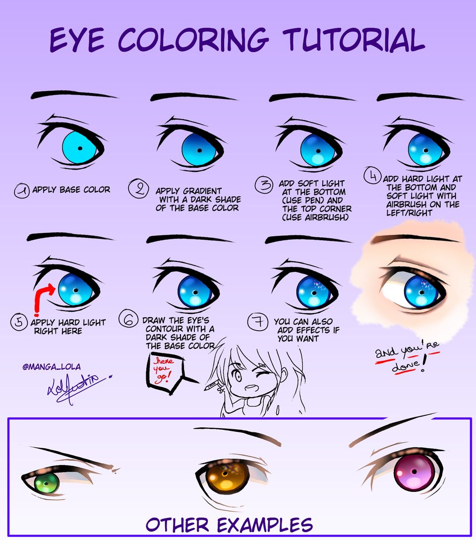 Eye coloring tutorial - Sorasama | Illustrations - MediBang