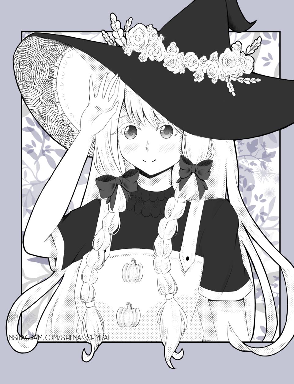 Request #3 Illust of Shiina Sempai manga screentones