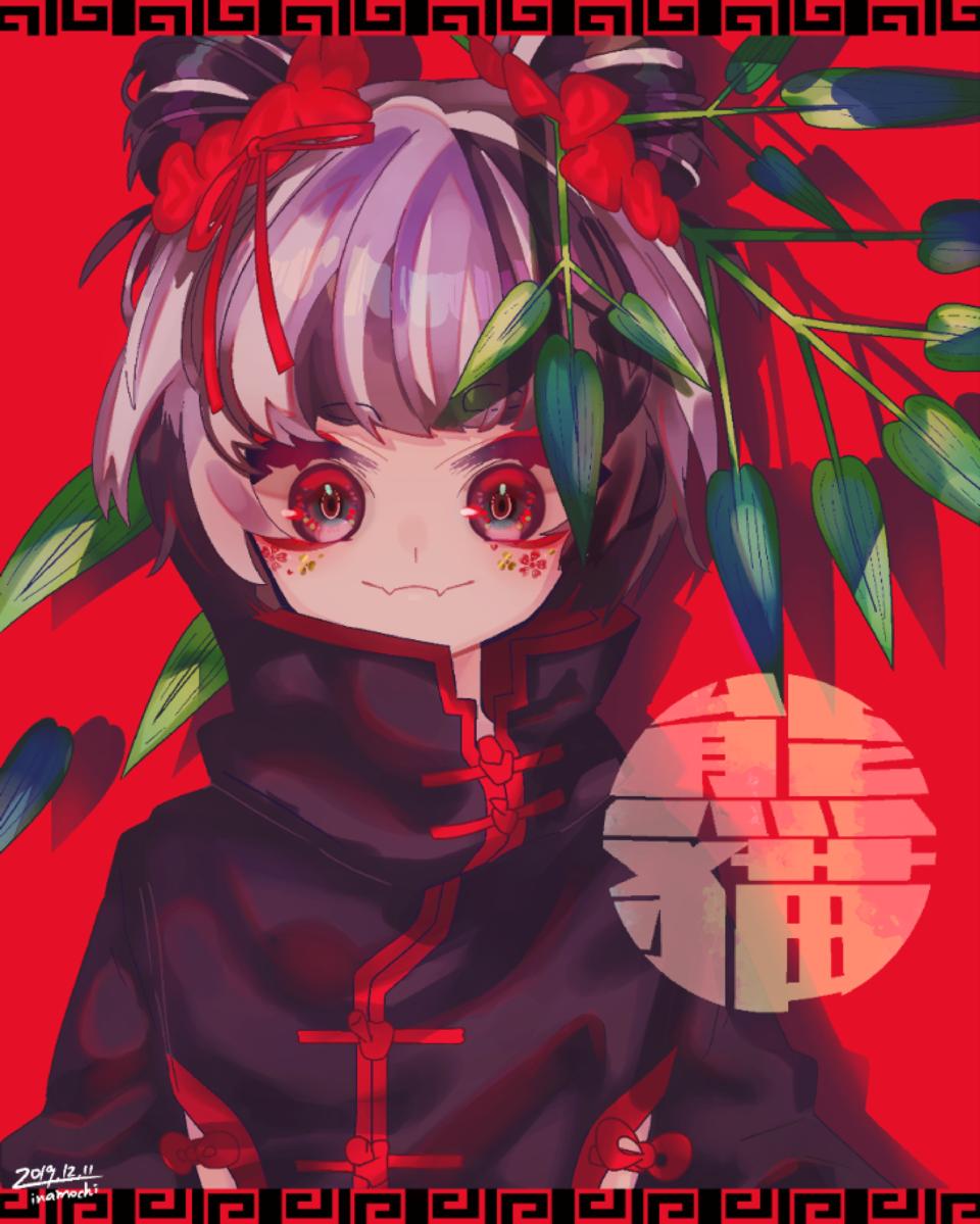 中華系女子🐼 Illust of 停止 中華 girl original
