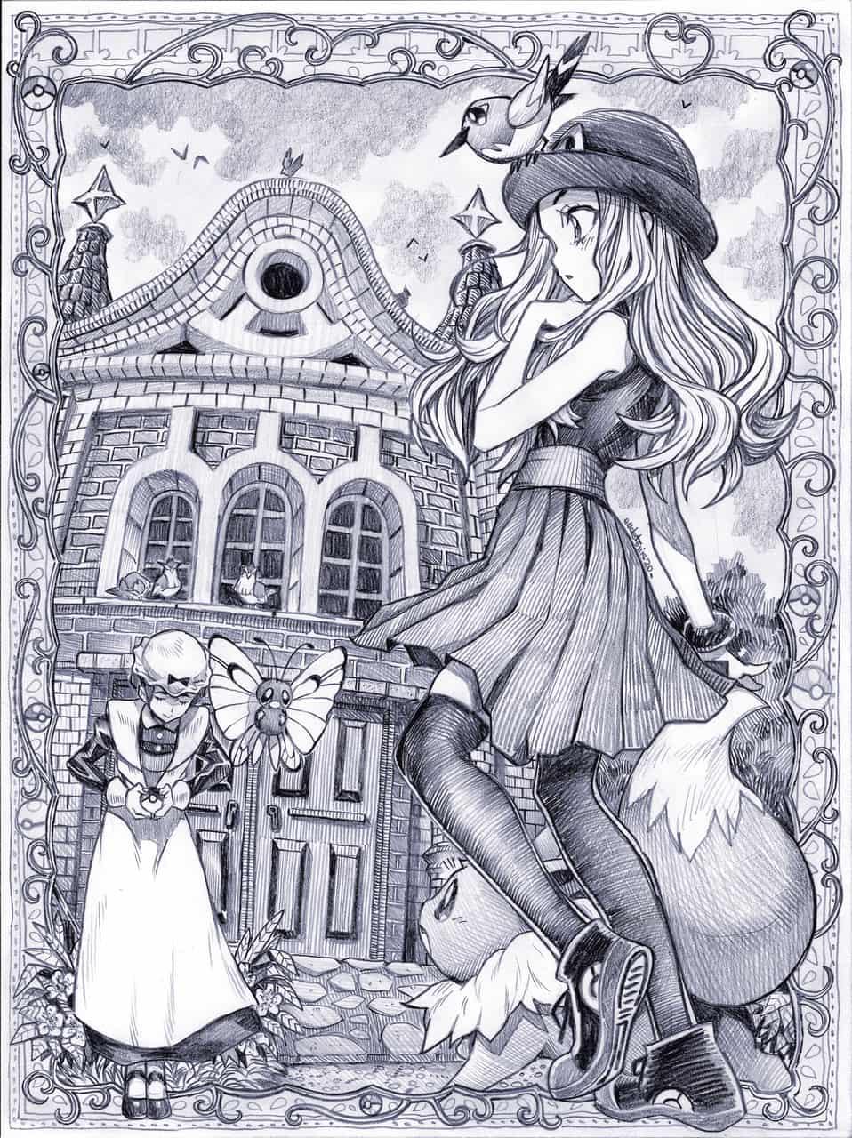 戦いましょう! Illust of EUDETENIS ARTstreet_Ranking セレナ pokemon ポケットモンスターXY バトルシャトー