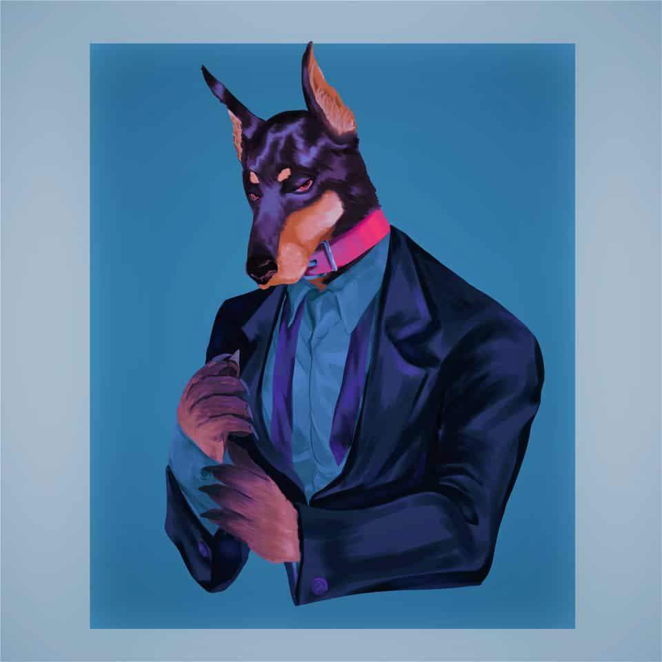 not that hairy but still furry Illust of DFKai-SB September2020_Contest:Furry Doberman